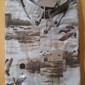Men's Columbia Duck-Themed Button-Down Shirt